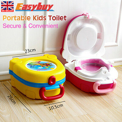 Portable Convenient Kids Toddler Travel Potty Toilet Training Seat Chair Trainer