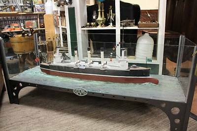 A Vintage WW1 Model of a Dreadnaught Ship from the Melbourne Maritime Museum
