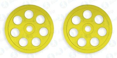 "BodyRip 2"" Olympic Colour Coded Weight Plates 2 x 15kg Lifting Disc Pair Gym Bar"