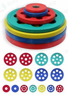 """BodyRip 2"""" Olympic Colour Coded Weight Plates 215kg Set Lifting Disc Gym"""