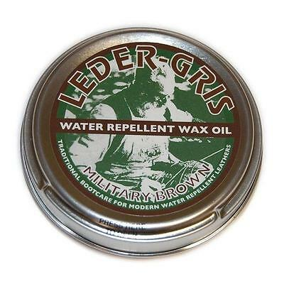 Leder Gris Original Wax Oil Brown 80g Tin Waterproofing Boot Treatment Polish