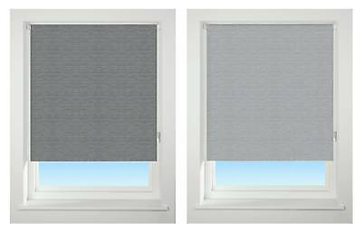 EASY FIT- RAISED TEXTURED STRIPE – Thermal BLACKOUT Trimmable,  Roller Blind,...