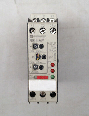 Telemecanique Time Delay Relay Multifunction Re4 My13Mw - New Old Stock