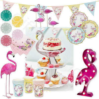 Talking Tables Truly Flamingo Vintage Party Tableware Supplies Table Decoration