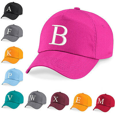 Kids Embroidery Baseball Cap Girls Boys Junior Childrens Hat Summer A Z Fuschia