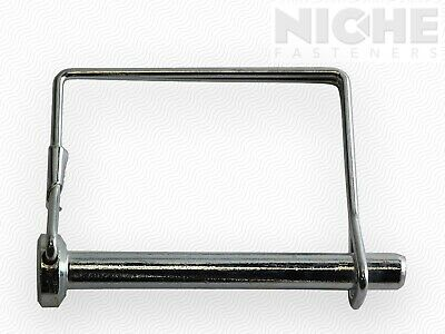 Snap Safety Pin Square Two Wire 3/8 x 2-1/4 Steel ZC (25 Pieces)