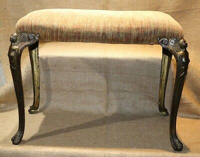Antique Cast Iron Legged Art Deco Bench with Lady Figured Leggs