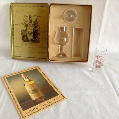 Glenmorangie Single Highland Malt Whisky Tin & Glass & Lid (NO ALCOHOL)