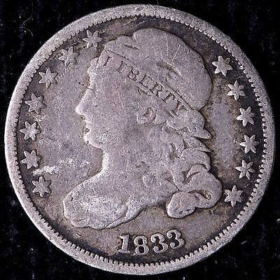 1833 Capped Bust Dime R8TCF