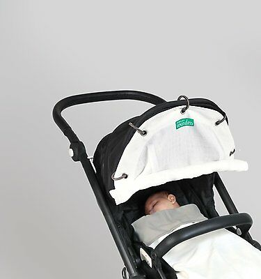 Wunders - Universal Cover Breeze for every Stroller, Carrier, or Pushchair-White