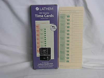 Lathem Weekly Time Cards Model 2121