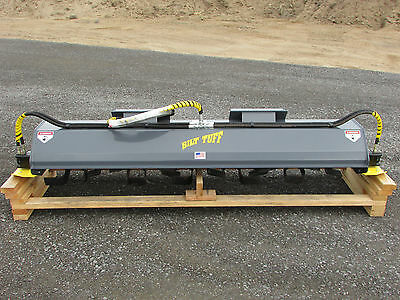 "2017 New 84"" Skid Steer Rotary Tiller Commercial Attachment Bobcat Case Cat Geil"