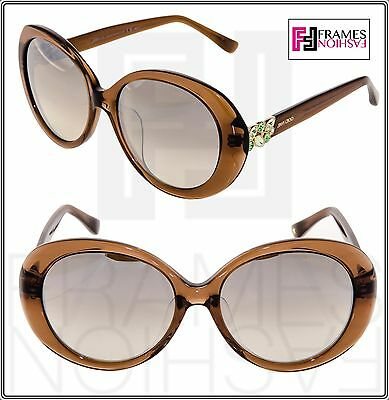 3a57ac8d412 JIMMY CHOO CLEM Translucent Brown Silver Mirrored Sunglasses ASIAN FIT  CLEM F S
