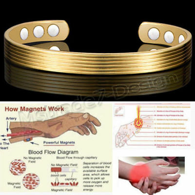 New Copper Bracelet Arthritis  Bio Pain Relief Pattern Magnetic Bangle Unisex Uk