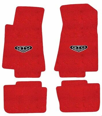 NEW! FLOOR MATS 2005 - 2006 PONTIAC GTO CREST Embroidered Logo Carpet Set of 4