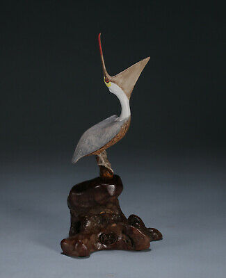 PELICAN Sculpture Laughing New direct from JOHN PERRY 7in tall Hand Painted