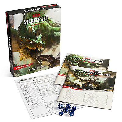 Dungeons And Dragons Starter Set Dice Fantasy Roleplaying D&D Boxed 5th Edition