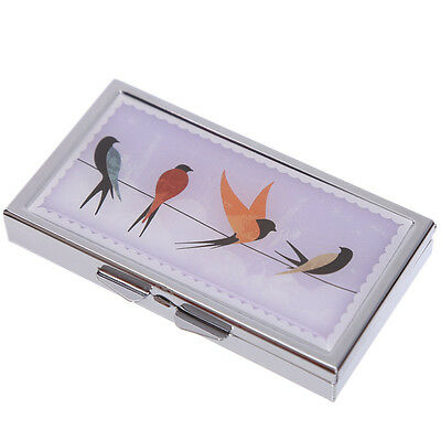 Handy 7 Days Metal Pill Box - Swallow Birds Design - New and Sealed - Gift Idea