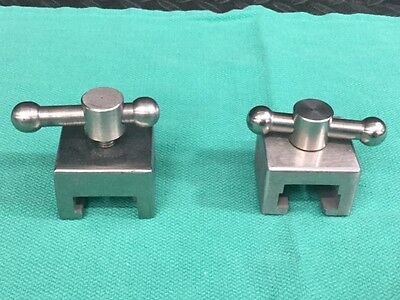 Surgical Table Side Rail Stainless Steel Sockets *Lot of 2*