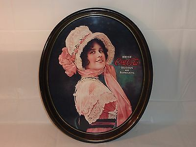 1914 Betty Girl Coca Cola Beverage Serving Tray ~ Vintage 1972 Reproduction