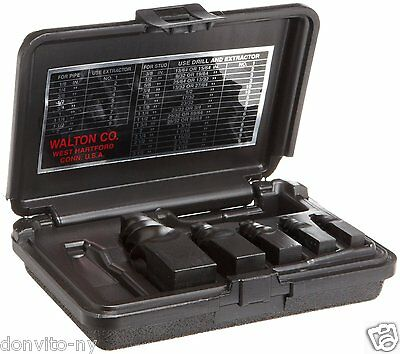 """Walton Tool REPS Pipe Extractor Set #205 #1-5 for pipe 1/8-3/4"""" Made in USA"""