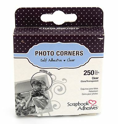 Photo Corners Clear Self Adhesive Acid free 250 pk AUSTRALIAN STOCK