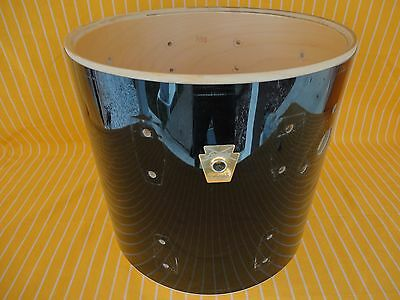 """1980s VINTAGE LUDWIG 12""""x 11""""deep RACK TOM DRUM SHELL + K/S BADGE MADE IN USA"""