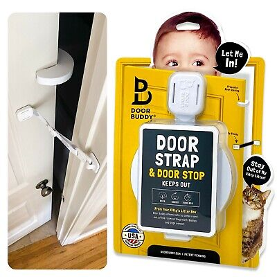 Door Buddy® Baby Proof Door Lock Plus Foam Finger Pinch Guard & Door Stopper