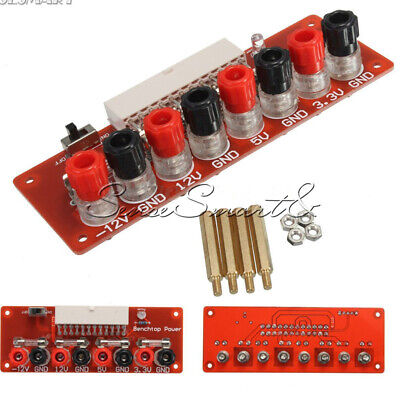 24Pins ATX Benchtop PC Power Board Computer Supply Breakout Module Adapter