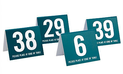 Plastic Table Numbers - Set of 30 Mixed Numbers - Teal w/ white, Free shipping
