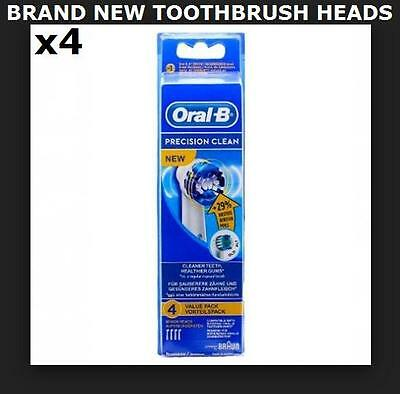 [NEW] 4x Braun Oral B Toohthbrush Heads (EB20-40) - Precision Clean