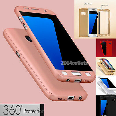 360° Shockproof Full Hybrid Hard Thin Case Cover Skin for Samsung Galaxy S7/S8+