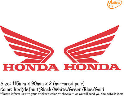 2 Pcs HONDA (mirrored pair) Reflective Stickers Motorcycle Decals  Best Gift-