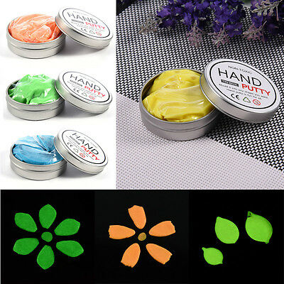 3 Color Hand Plasticine Luminous Slime Play Dough Magnetic Rubber Mud Clay Child