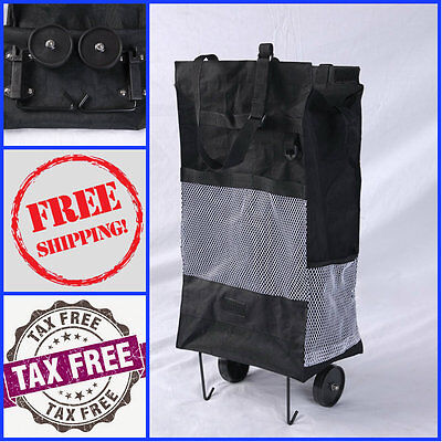 Shopping-Cart-Folding-Basket-Laundry-Grocery-Travel-Trolley-Bag