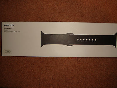 Apple Sport Band for Apple® Watch™ 42mm - BLACK GENUINE & AUTHENTIC- Brand New!