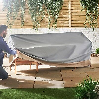 VonHaus Large Patio Bench Loveseat Cover Heavy Duty Waterproof Protect Outdoor