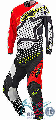 Completo Alpinestars Cross Racer Braap 2017 Red White Black