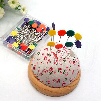 1 Box Patchwork Craft Flower Button Head Pins Quilting Tool Sewing Accessories