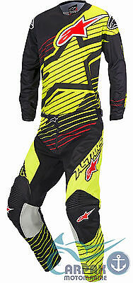 Completo Alpinestars Cross Racer Braap 2017 Yellow Fluo Black