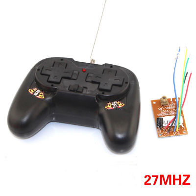 1x 27MHz 4-Channel 8-Key Remote Control RC + Receiver Board  + Antenna KIT