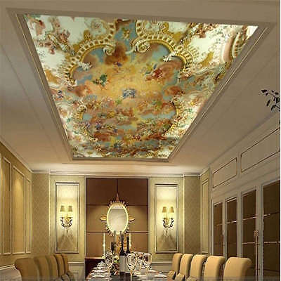Popular Fresco Art Full Wall Ceiling Mural Photo Wallpaper Print Home 3D Decal