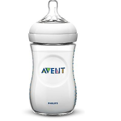 Philips AVENT Natural Slow Flow Baby Milk Feeding Bottle Anti-Colic 260ml/9oz 1m