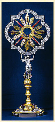 Ostensorio con angelo monstrance with angel ostensoir Monstranz monstrancja
