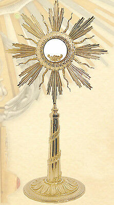 Ostensorio artistico cesellato Monstrance ostensoir Monstranz monstrancja