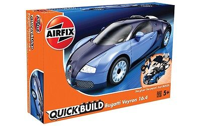J6008 Airfix Quick Build Bugatti Veyron 16.4 Model Car Snap Together Kit New UK