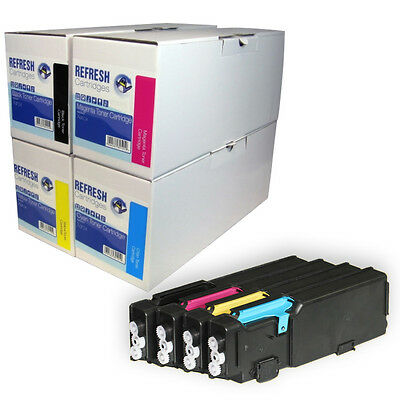 Remanufactured Laser Toner Cartridge Single / Rainbow Pack For Xerox Phaser 6600