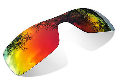 Fit&See Polarized Fire Red Replacement Lenses for Oakley Oil Rig