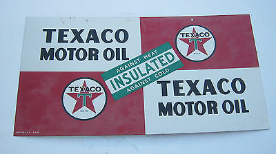 Vintage Texaco Insulated Motor Oil Enamel Gas Two Sided Sign excellent 1948