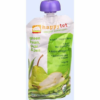 Happy Tot Baby Food - Organic - Green Beans Pear and Pea - Stage 4 - 4.22 oz